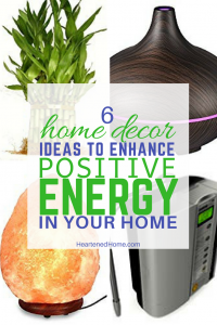 Increase the Positive Energy in your Home with Feng Shui - ideas and tips to invite positive energy and increase the joy and abundance in your life with these 6 home decor ideas. | Heartenedhome.com #homedecor #fengshui #afflink