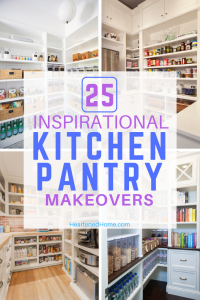 25 Inspirational Kitchen Pantry Makeovers - Prepare to drool over these amazingly organized kitchen pantries and get inspired to give yours a makeover! | https://heartenedhome.com #organization #kitchenpantry