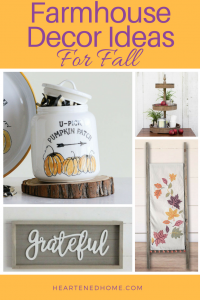 Fall Farmhouse Decor Ideas - a roundup of farmhouse style fall decor ideas from the Antique Farm House shop to inspire your decor for this Autumn season. | Heartenedhome.com #homedecor #farmhouse #falldecor #afflink