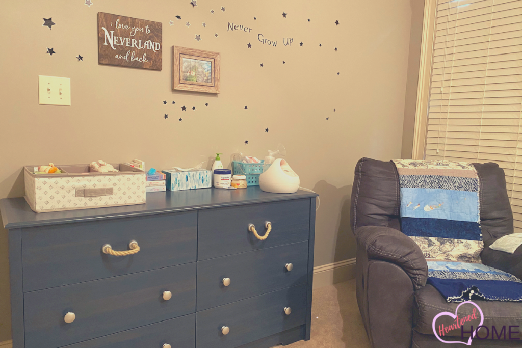 A view of wall #1 of this nautical nursery