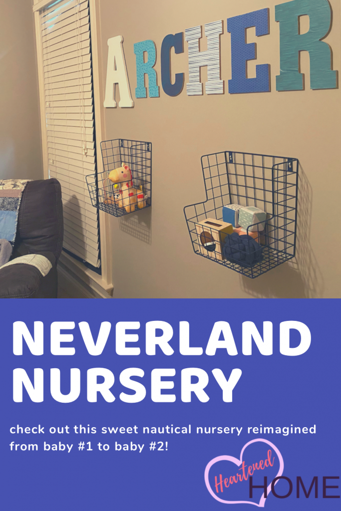 Learn how to re-use items on hand to create a whole new look for new baby nursery full of whimsy.